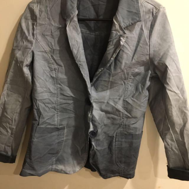 Blazer Jacket Grey Wash