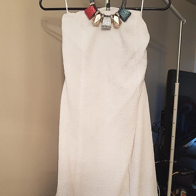 BNWT Tube White Dress