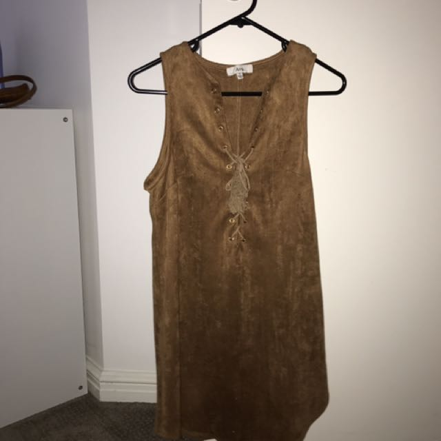 brown velvet dress