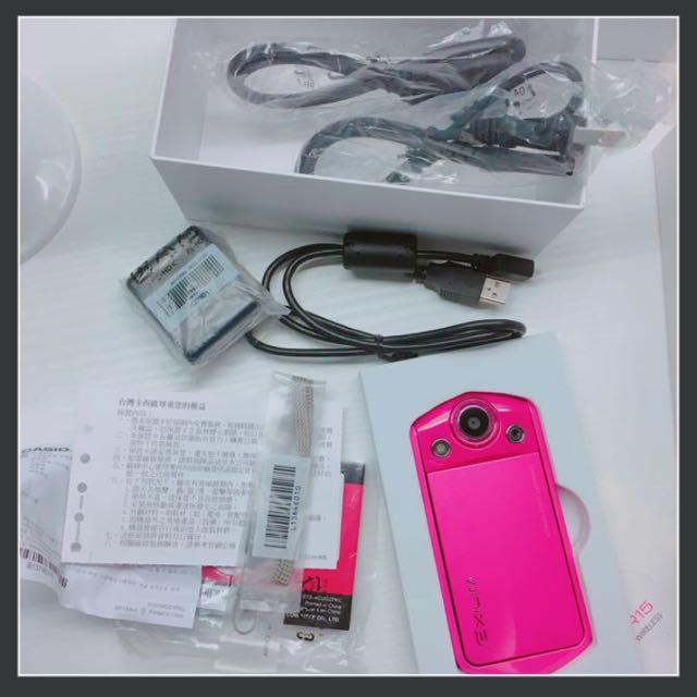 Casio Tr35 Tr15自拍神器 粉色 卡西歐