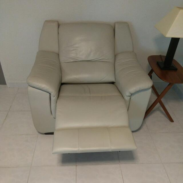 Cellini Full Calf Leather Electric Recliner