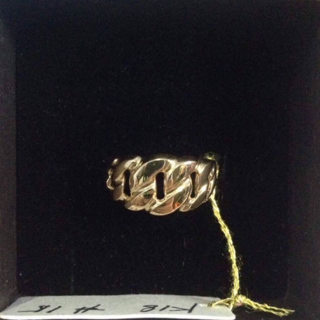Chain Ring Japan 18k Gold