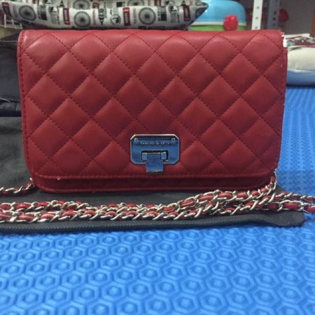 Charles n Keith Quilted Clutch