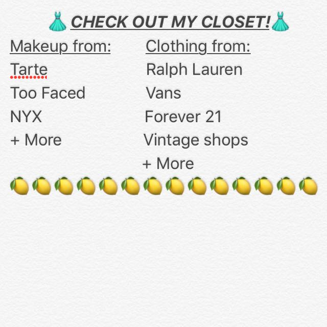 Check out my closet!