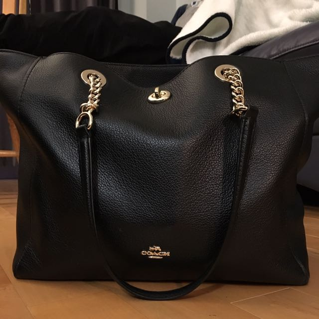 Coach Black And Gold Tote Bag