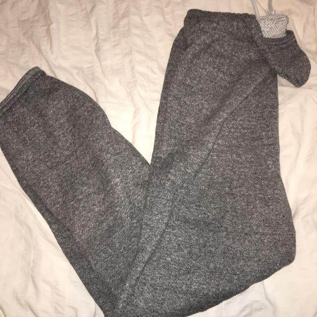 comfy grey sweatpants
