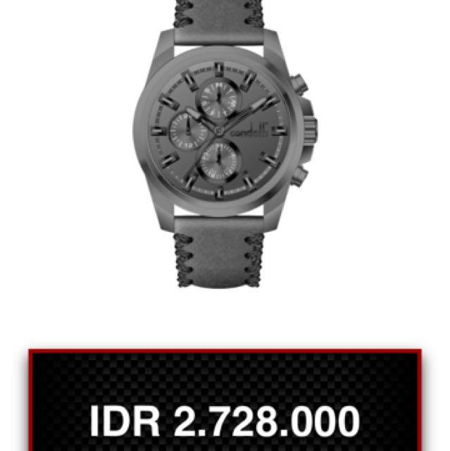 Condotti GIRAMONDO CN1017-GN08-L08 Grey Leather Chronograph