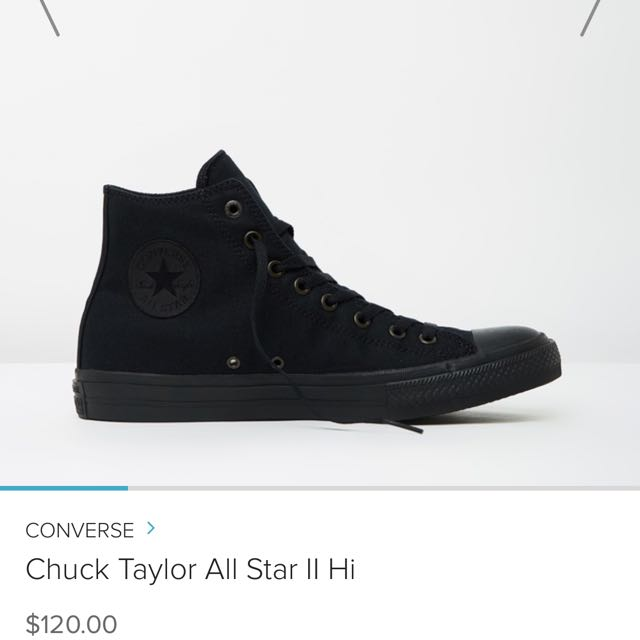 CONVERSE all black HIGH TOPS