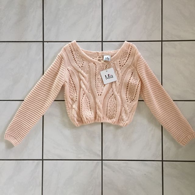 Cropped Knit Jumper Sweater Top