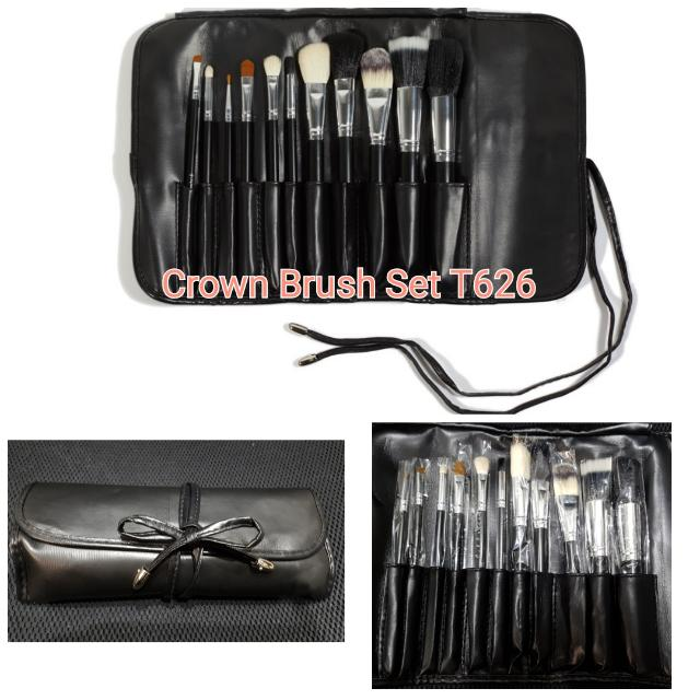 Crown Brush Set T626 (11 full size brushes with faux leather