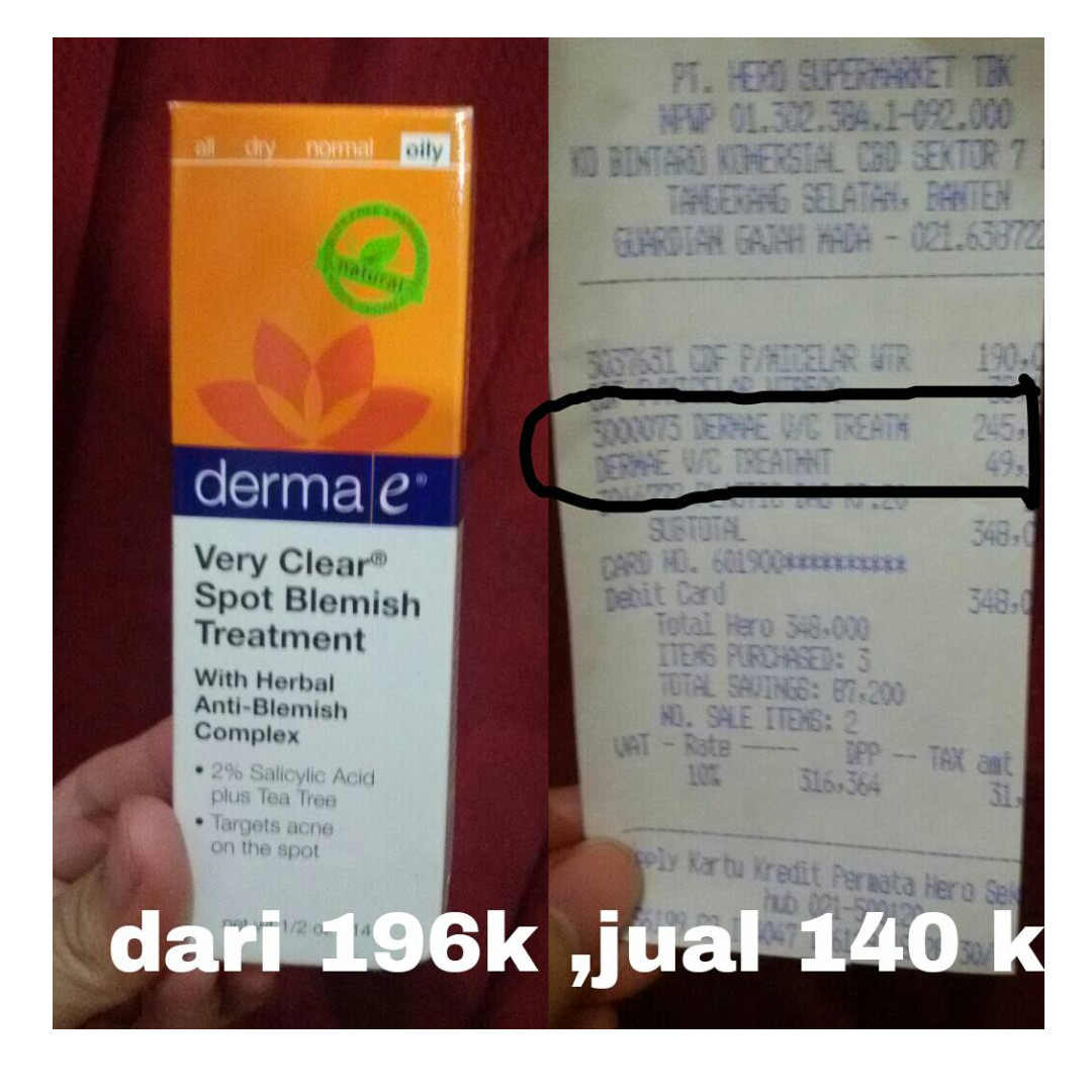 DERMA E pimples treatment (oily)