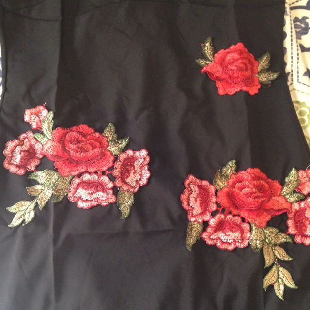 Embroided Rose Dress