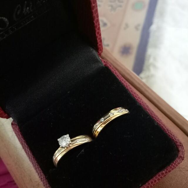 Engagement And Wedding Ring For Her