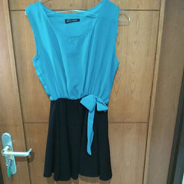 estina green mini dress