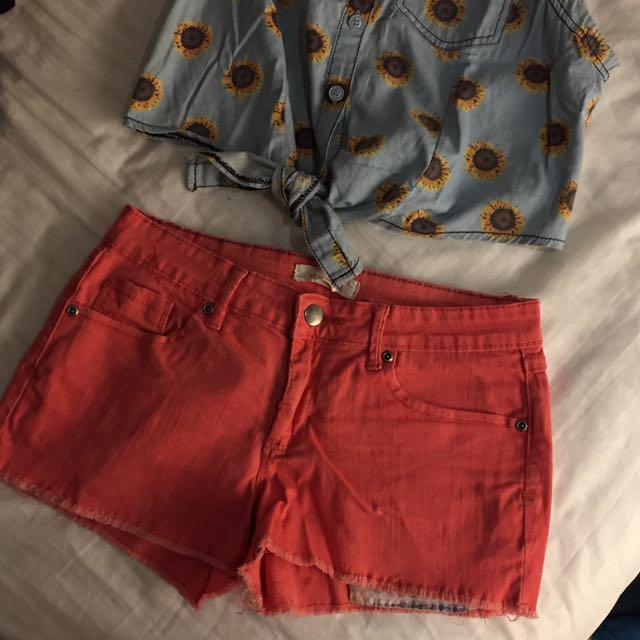 F21 Pink Short Shorts