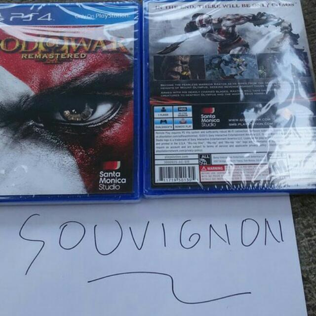 God Of War 3 Remastered Bd Ps4