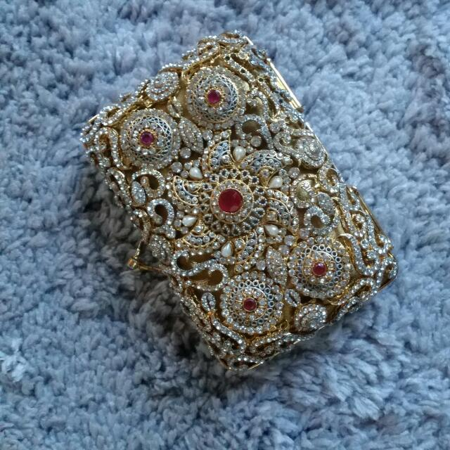 Gold Red Purse