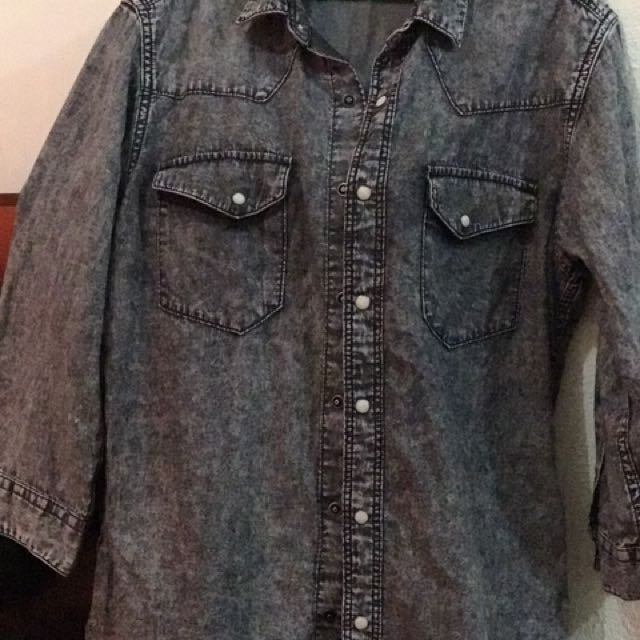 GU (Japanese Clothing Brand) Soft Denim Jacket