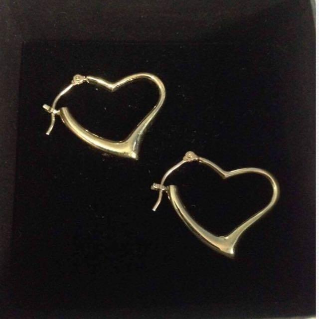 Heart Earrings Japan 18k Gold