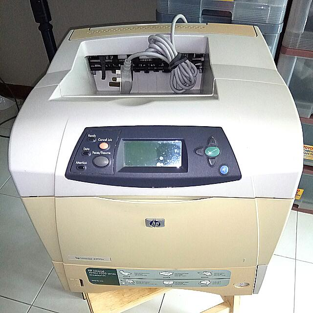 Hp LaserJet 4200n Duplex Mono Black/white Laser Printer Paper Jam Problem @  Yishun