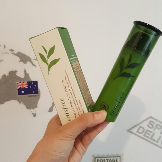全新innisfree綠茶超含水保濕精華
