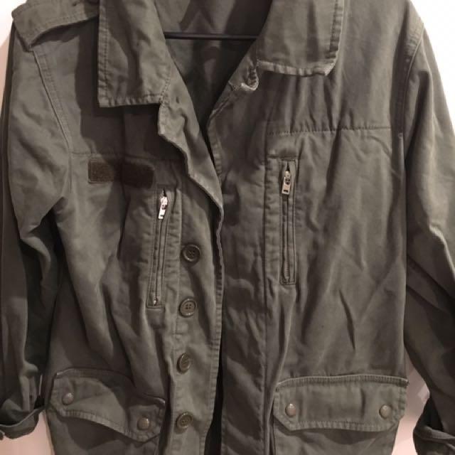 Jacket khaki trench coat