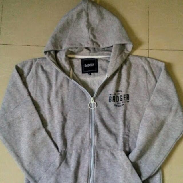 Reprice!! Jaket Hoodie BADGER With Zip