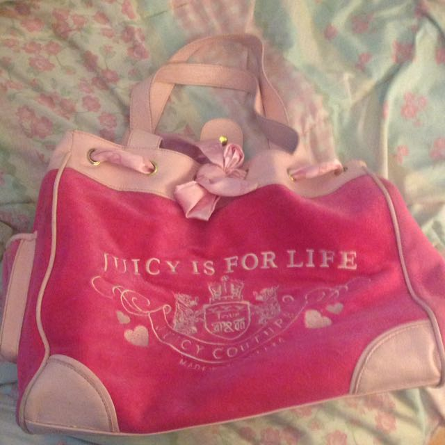 Juicy Couture Authentic Velour Bag