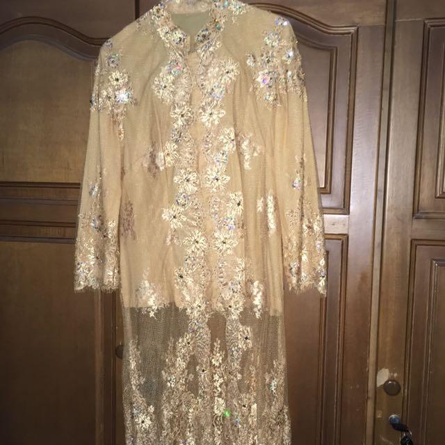 kebaya brokat brukat wedding dress