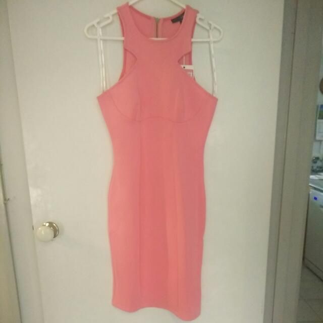 Ladakh Pink Bodycon Dress