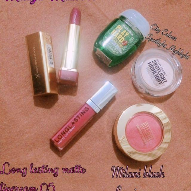 Lipstik , Blush , Highlighter