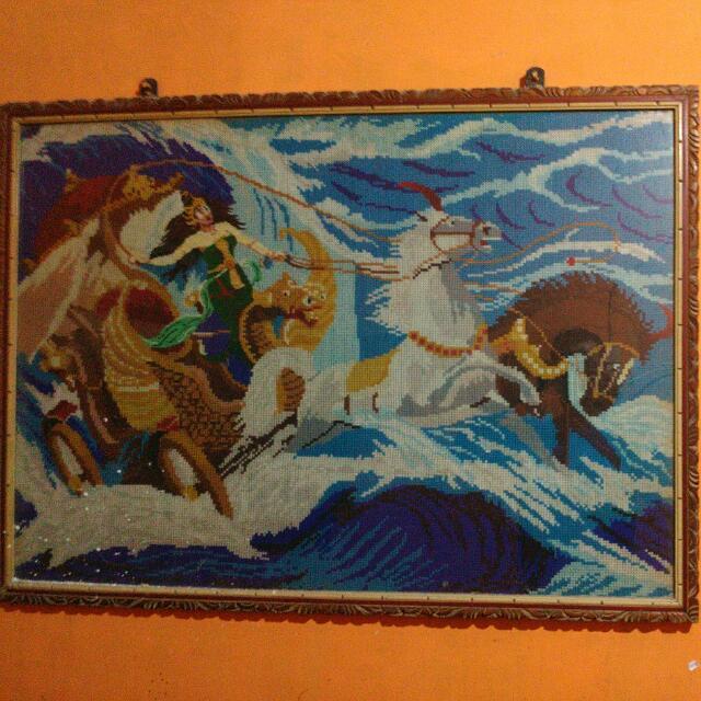 Lukisan Dari Benang Woll