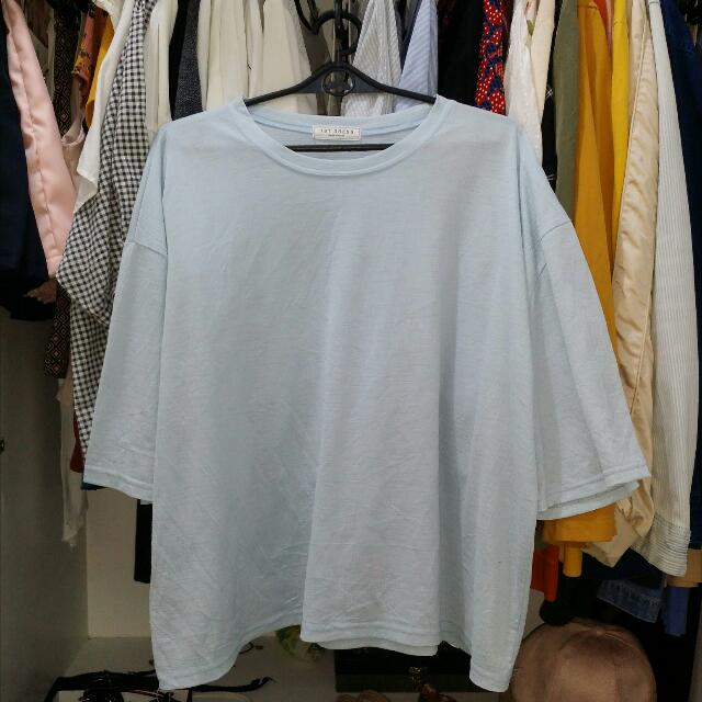 Made In Korea Baby Blue Blouse