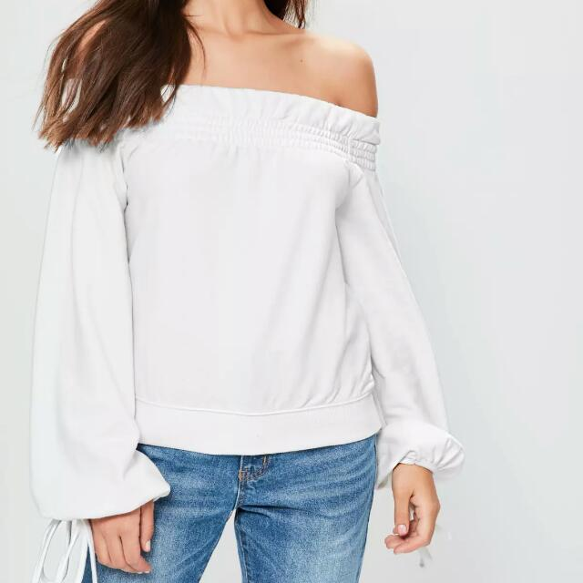 missguided bardot sweatshirt