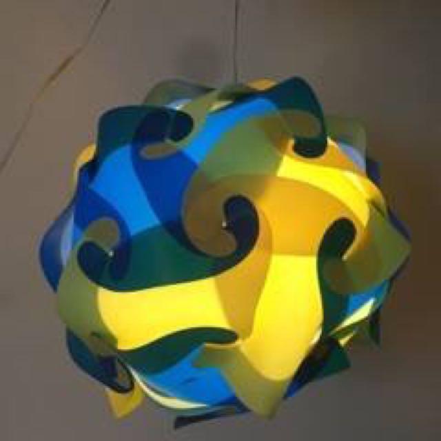 New Blue/Yellow Modern Chandelier