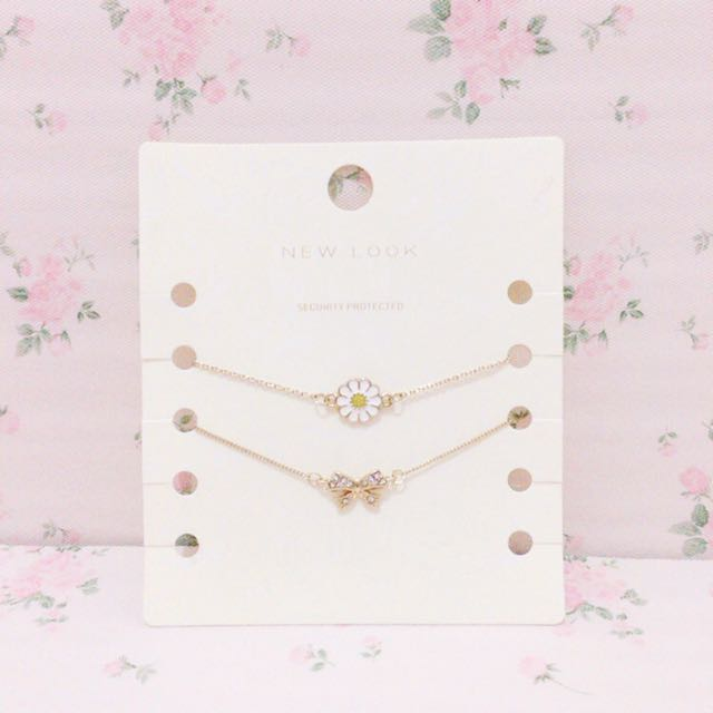 New Look Flower & Ribbon Bracelet Accesories