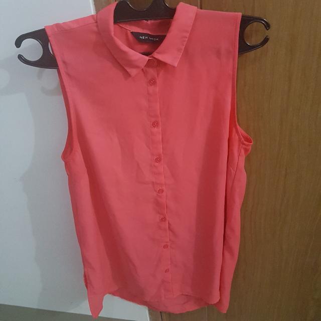 New Look Sleeveless Pink Shirt