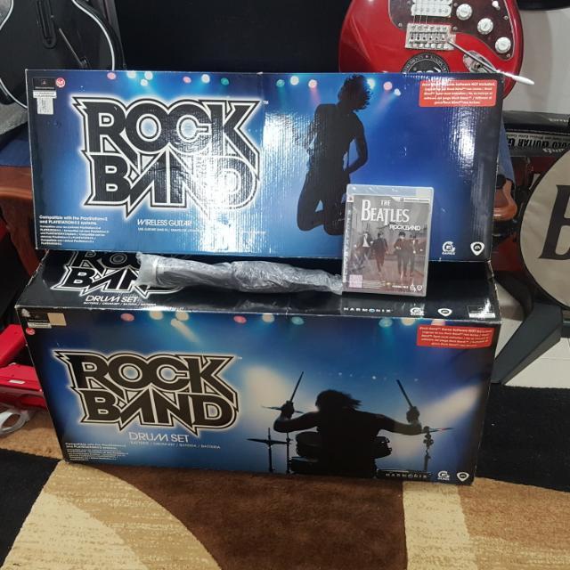 NEW PS3 Rock Band BUNDLE Set