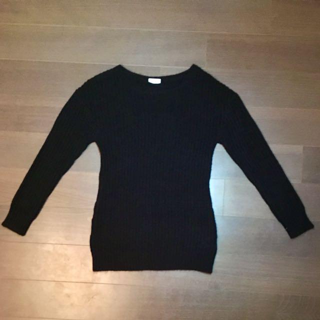 Noisy May Black Knit Sweater