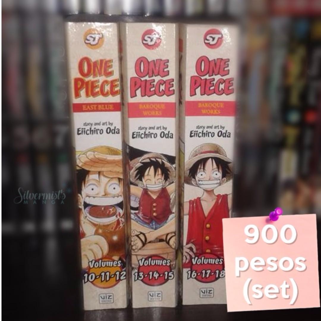 One Piece Omnibus 10-18 Manga