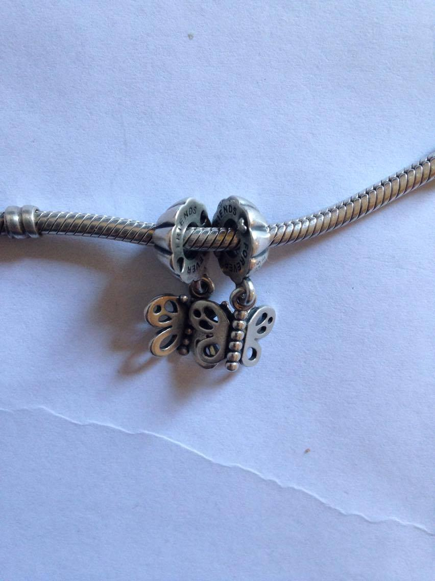 PANDORA Friends Forever Butterfly Dangle Charm