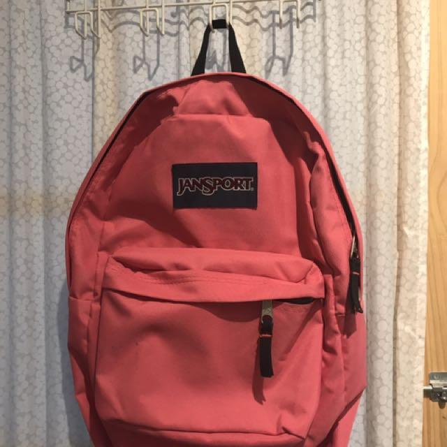 Pink And Black Jansport Backpack