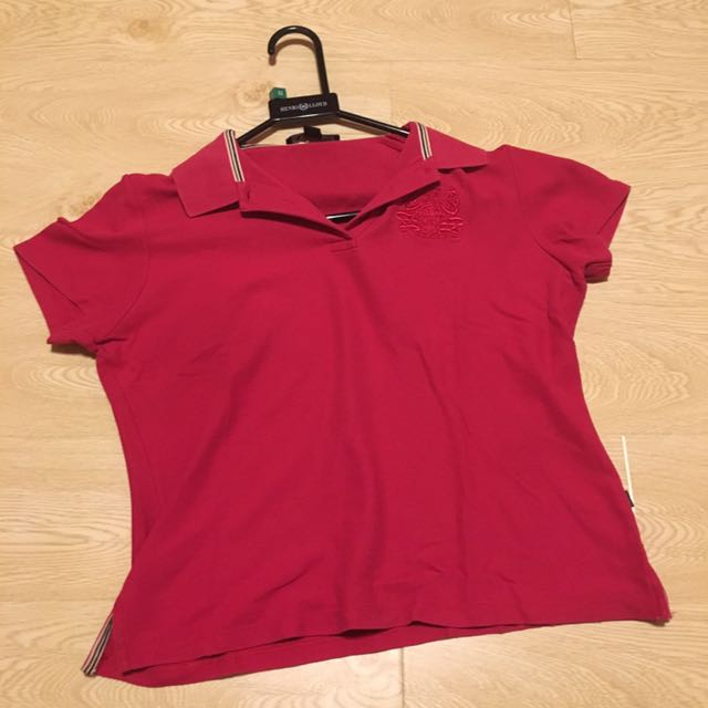 桃紅色 L號 polo衫