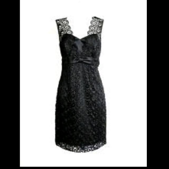 Review Black Lace Cocktail Dress Size 8