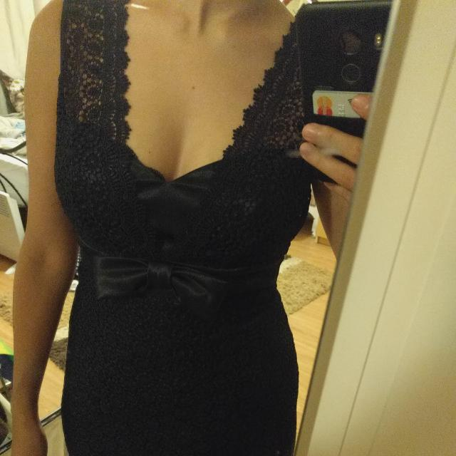 Review Black Lace Cocktail Dress Size 8