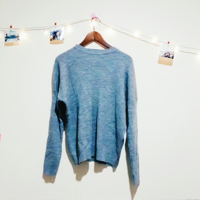 Ribbed Sweater (Grey)