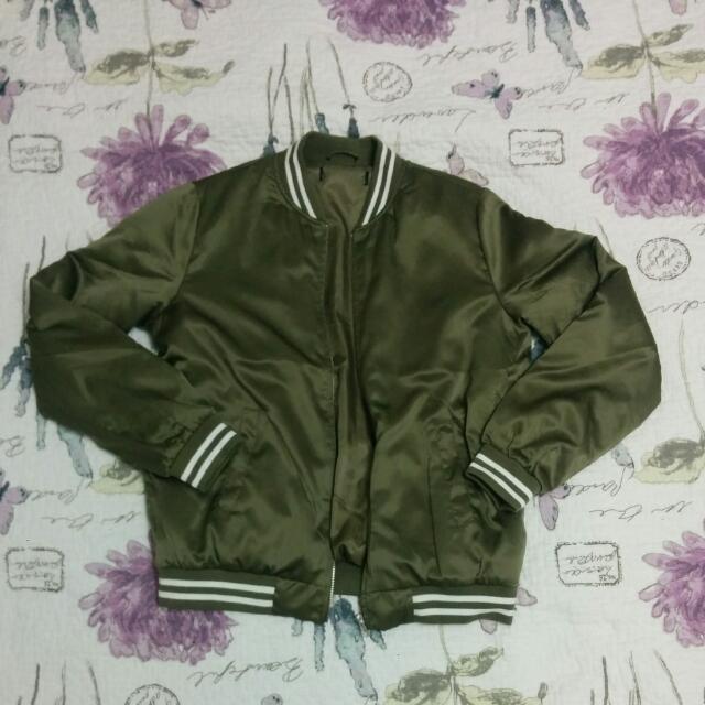 Satin Bomber Jacket from Forever 21