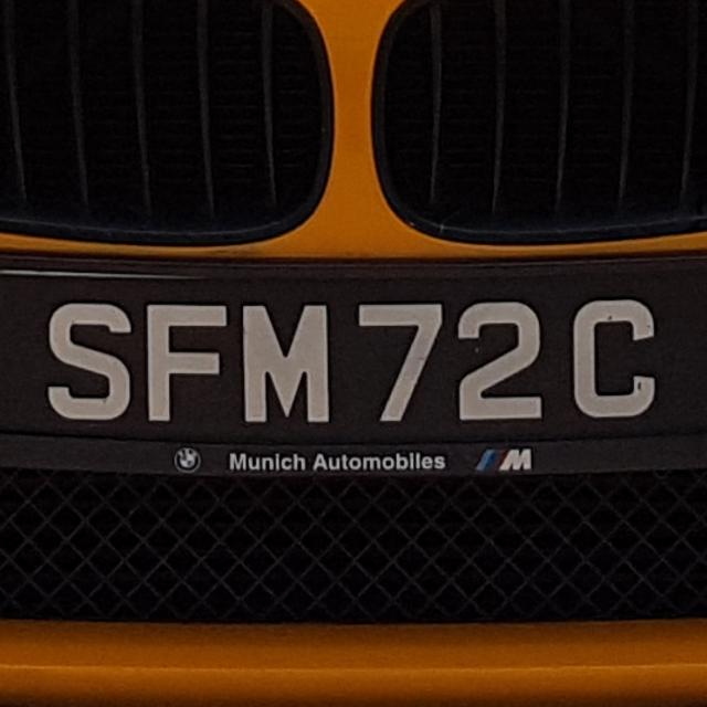 SFM72C Car Registration Number