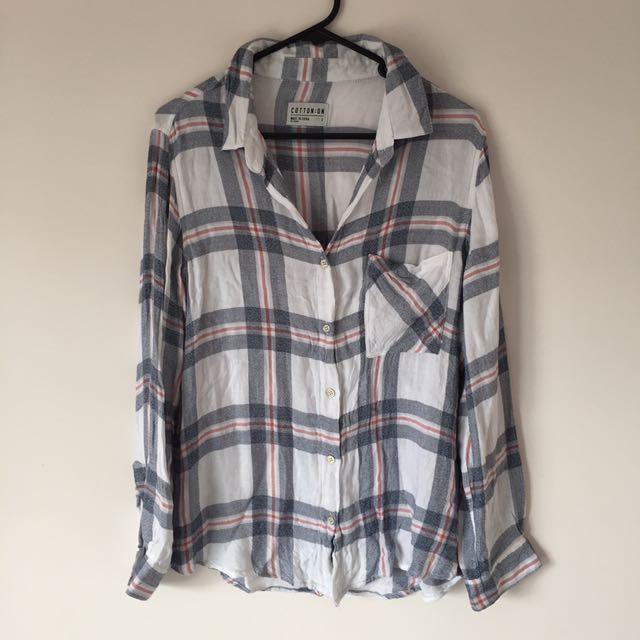 SIZE SMALL / COTTON ON FLANNEL SHIRT