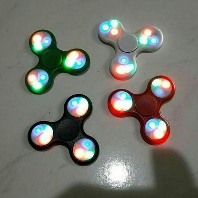 TERMURAH FIDGET SPINNER LED LIGHT